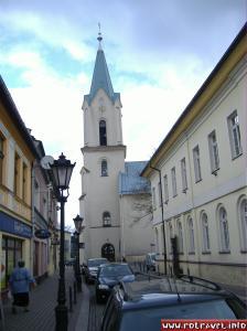 Catholic church in the center of Oświęcim (Old Market Square-Rynek Główny)