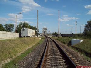 The railway bridge over the Dniester